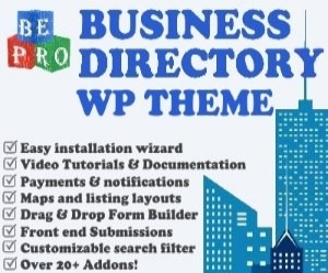 Purchase the BePro Business Directory WordPress Theme